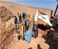 إصلاح خط المياه الرئيسى بـ «وادي كركر» في أسوان