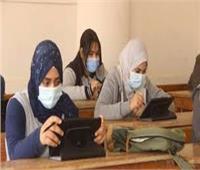 إجراءات احترازية مشددة بلجان امتحانات أولى ثانوي بالمنيا