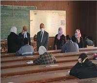 الالتزام بالإجراءات الاحترازية خلال امتحانات الفصل الدراسي الأول بجامعة الزقازيق