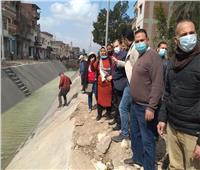 رئيس مدينة كفر الدوار يتفقد أعمال تبطين ترعة خط النار