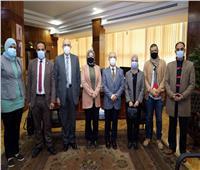 رئيس جامعة طنطا يستقبل منسقي المبادرة الرئاسية «حياة كريمة»