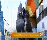 «إبراهيم صلاح» يحوّل الخردة لمجسمات لآلهة الحضارة الفرعونية | صور