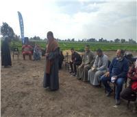 إرشادات لتوعية المزارعين للاهتمام بمحصولي القمح والقطن بالمنوفية