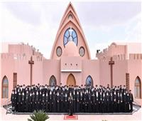 بالأنفوجراف  الهيكل التنظيمي ولجان المجمع المقدس بالكنيسة الأرثوذكسية