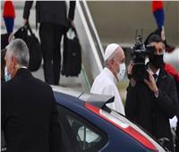 بث مباشر  وصول البابا فرنسيس للعراق