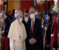 مراسم استقبال البابا فرنسيس في مطار بغداد.. فيديو