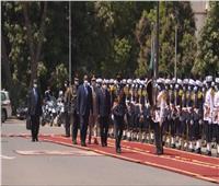مراسم استقبال رسمية للرئيس السيسي بالسودان | صور