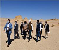 محافظ الفيوم ونائب وزير السياحة يتفقدان محمية وادي الريان