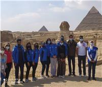 مشاهير ومدونون مؤثرون في أحضان الحضارة المصرية