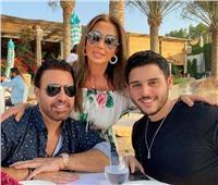 صورة عائلية لعاصي الحلاني في دبي