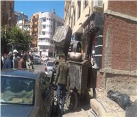 رفع الإشغالات وإيقاف البناء المخالف بالإسماعيلية| صور