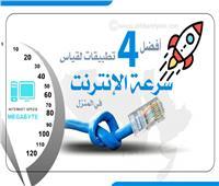 إنفوجراف| أفضل 4 تطبيقات لقياس سرعة الإنترنت في المنزل