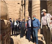 اللجنة العليا للمركز المصري الفرنسي تتفقد تطوير معبد الكرنك | صور