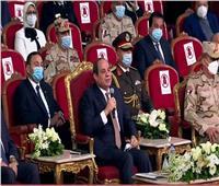 الرئيس السيسي: سيرة الشهيد والمصاب تحتم على المصريين الحفاظ على بلدهم