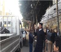 تحرير 598 محضر إشغال طريق بالجيزة