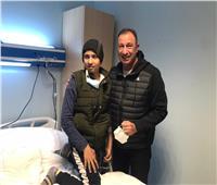 بعد زيارته.. سر وعد الخطيب لطفل مريض بالسرطان