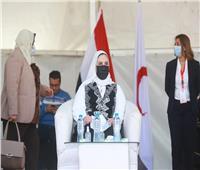وزيرة التضامن الاجتماعي: الهلال الأحمر يلعب دورا جوهريا في مواجهة الأزمات