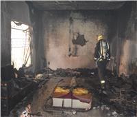 المعمل الجنائي يعاين موقع حريق منزل مهجور في المنيا