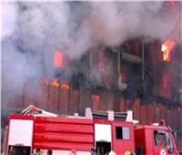 4 سيارات إطفاء للسيطرة على حريق مصنع شوكولاتة في القناطر