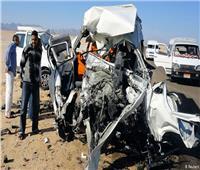 إصابة أمين شرطة في حادث سيارة بالمنيا