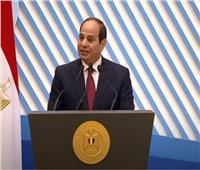 الرئيس يطالب الحضور بالوقوف دقيقة تحية للمرأة المصرية