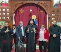 الأنبا باخوم يترأس الرياضة الروحية لكنيسة الأقباط الكاثوليك بشبرا الخيمة
