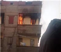 المعمل الجنائي يعاين موقع حريق بجوار مقر النيابة الإدارية بمطاي