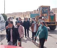 حملة مكبرة لإزالة الإشغالات والتعديات بمنطقة إسكان دهشور