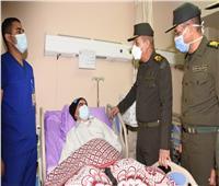 وزير الدفاع يزور المرضي والمصابين بالمجمع الطبي للقوات المسلحة بالمعادى