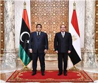 الرئيس السيسي: شرفت باستقبال رئيس المجلس الرئاسي الليبي