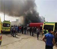 وفاة ٣ من مصابي مصنع ملابس العبور المحترق في القليوبية