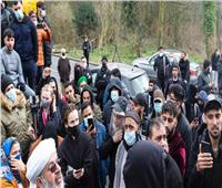 مظاهرة غاضبة في بريطانيا بسبب صورة مسيئة للنبي محمد