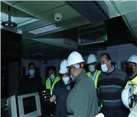 الفريق أسامة ربيع يُتابع أعمال التكريك بمنطقة جنوح السفينة البنمية