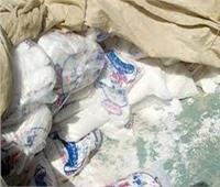ضبط 26 طن «ملح طعام» غير صالح للاستهلاك الآدميقبل بيعه بالسوق