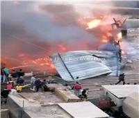 استمرار فصل الكهرباء عن منطقة الزقازيق بسبب الحريق