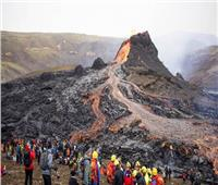 ثوران بركان ظل خاملا منذ 800 عام بإيسلندا