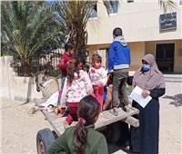 حملة التطعيم ضد شلل الأطفال تواصل عملها من منزل لمنزل بقرى سيناء