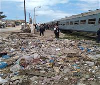 """القبض على سائق سيارة """"خرسانة""""  تسبب في حادث قطار بالإسكندرية    صور"""