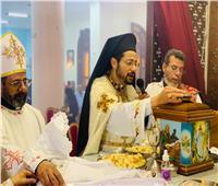 الأنبا باخوم يزور كنيسة الأقباط الكاثوليك بالخصوص و يحتفل  بالقداس الالهي