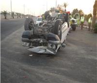 مصرع عاملوإصابة 14 آخرين في انقلاب سيارة بالشرقية
