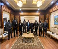 استقبال ألبينو بول للمشاركة في مؤتمر القاهرة القومي الأول لشباب جنوب السودان