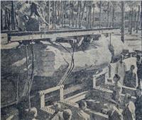 تمثال رمسيس تحرك من مكانه لأول مرة في الخمسينيات