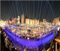 ميدان التحرير يتألق بالتزامن مع نقل المومياوات الملكية
