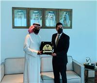 «عبدالوهاب» يبحث مع وزير الصناعة البحريني زيادة الاستثمارات
