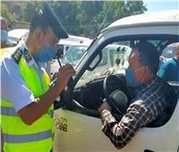 تحرير 476 محضرًا لعدم الالتزام بارتداء الكمامات بالجيزة