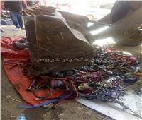 إعدام 136 «شيشة» بعد مصادرتها من المقاهي بكفر الدوار
