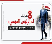 8 تصريحات لـ«الرئيس» في افتتاح مجمع الوثائق المُؤمنة والذكية| إنفوجراف