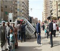 ضبط سيارات مخالفة محملة بالمخلفات في أوسيم بالجيزة