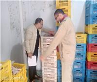ضبط هياكل دواجن غير صالحة بثلاجة شرق الإسكندرية