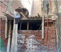 ضبط أعمال بناء مخالف في الدقي بالجيزة|صور